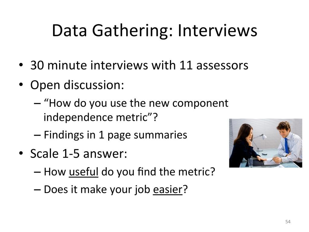 Data Gathering: Interviews  • 30 m...