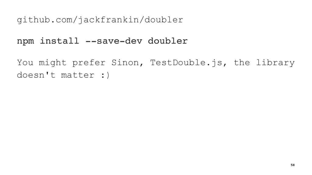 github.com/jackfrankin/doubler npm install --sa...