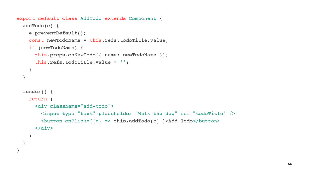 export default class AddTodo extends Component ...