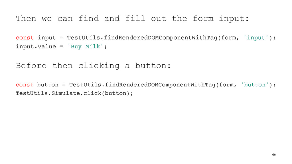 Then we can find and fill out the form input: c...
