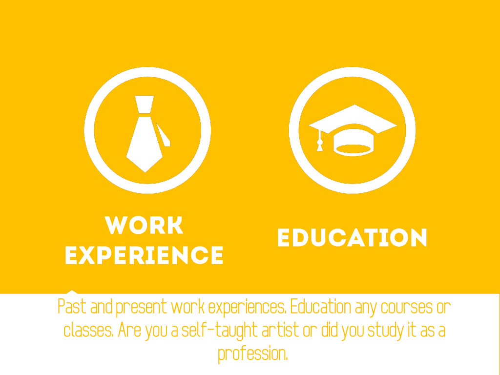 Past and present work experiences. Education an...