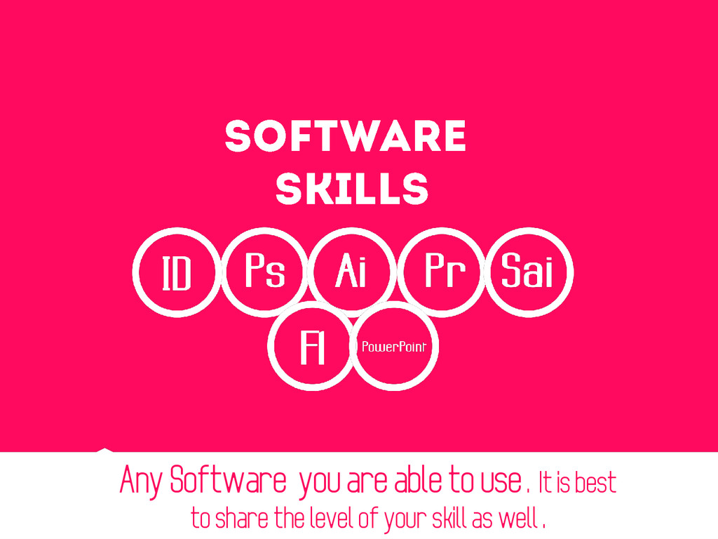 Any Software you are able to use . It is best t...