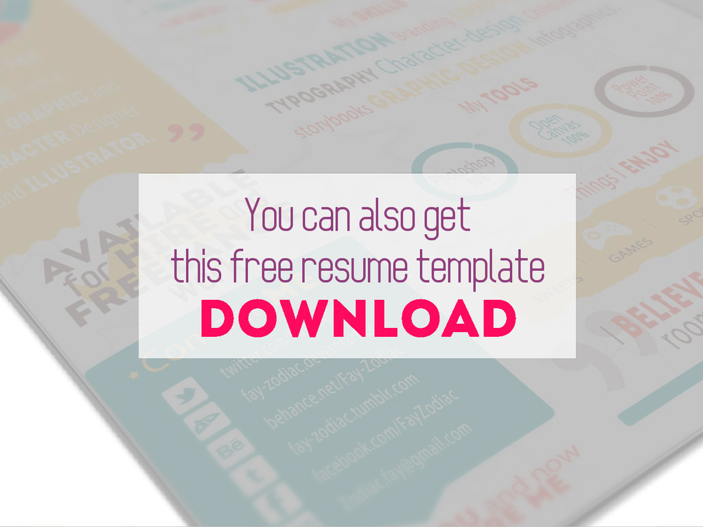 You can also get this free resume template