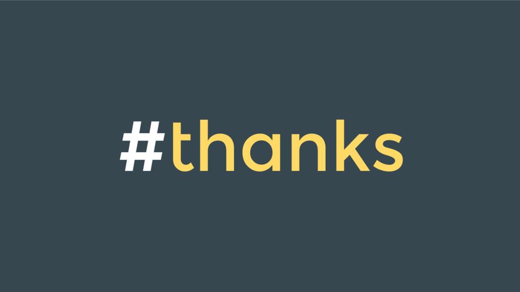 #thanks