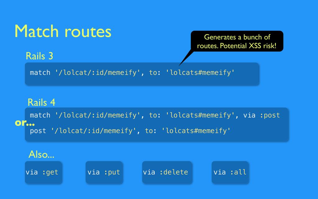 Match routes Rails 3 match '/lolcat/:id/memeify...