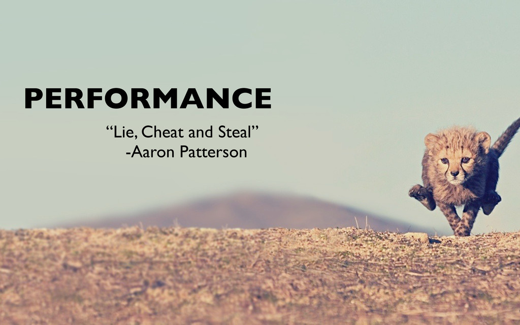 """PERFORMANCE """"Lie, Cheat and Steal"""" -Aaron Patte..."""