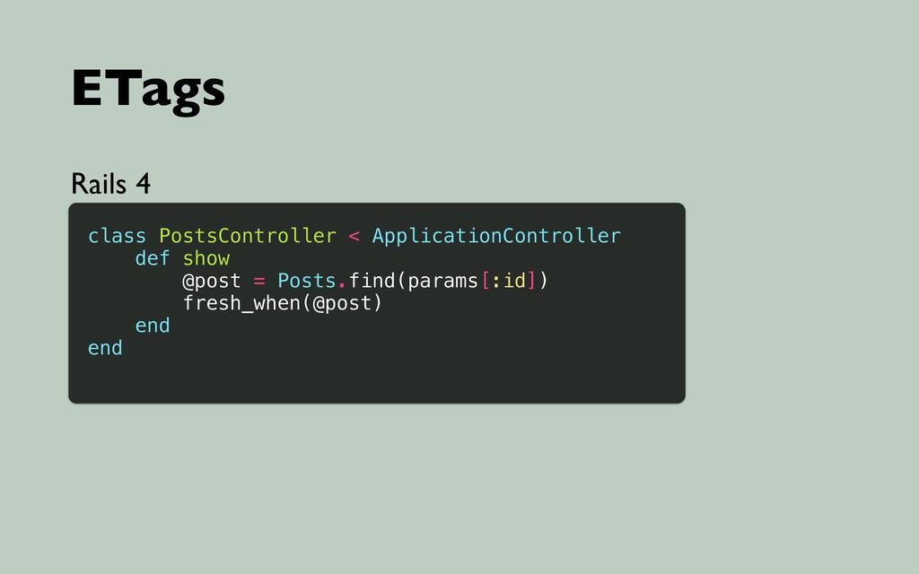 ETags Rails 4 class PostsController < Applicati...