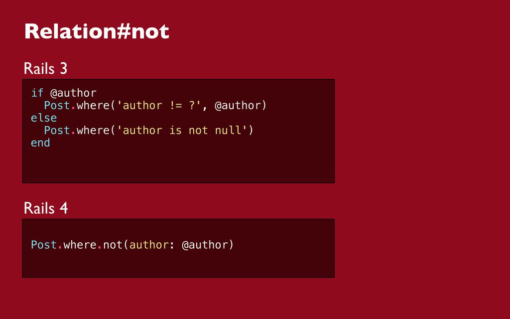Relation#not Rails 3 if @author Post.where('aut...