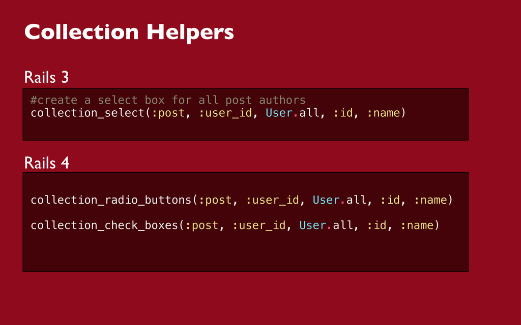 Collection Helpers Rails 3 #create a select box...