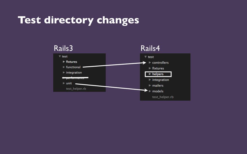 Test directory changes Rails3 Rails4
