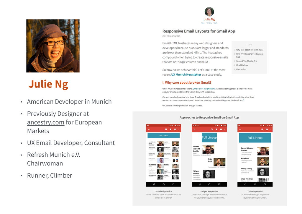 Julie Ng • American Developer in Munich • Previ...