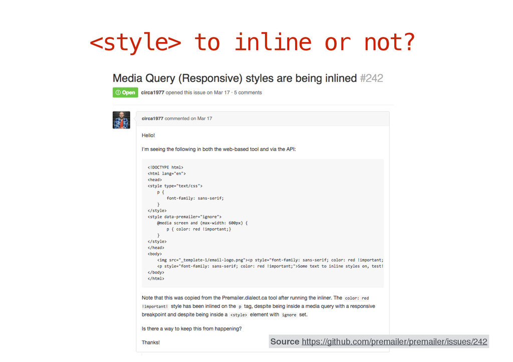 <style> to inline or not? Source https://github...