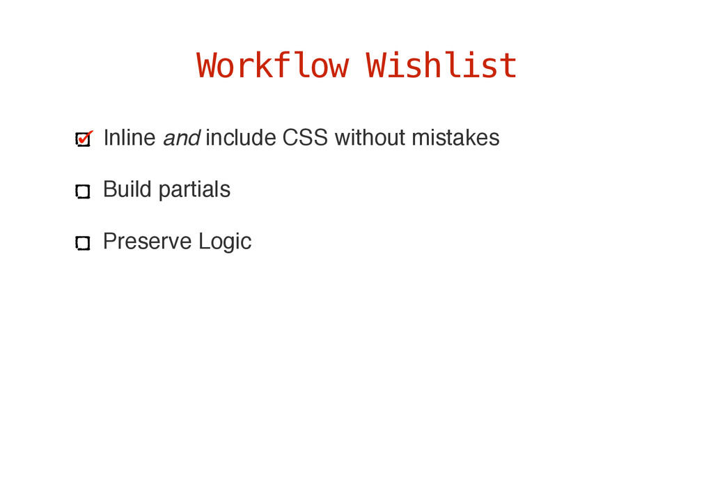 Inline and include CSS without mistakes Build p...