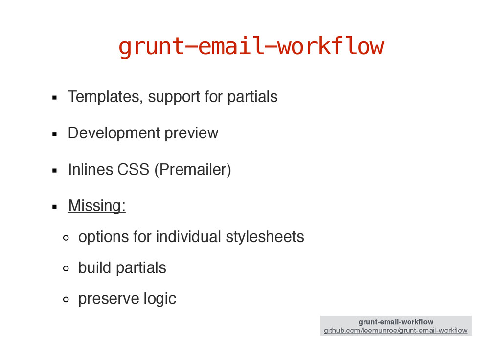 Templates, support for partials Development pre...