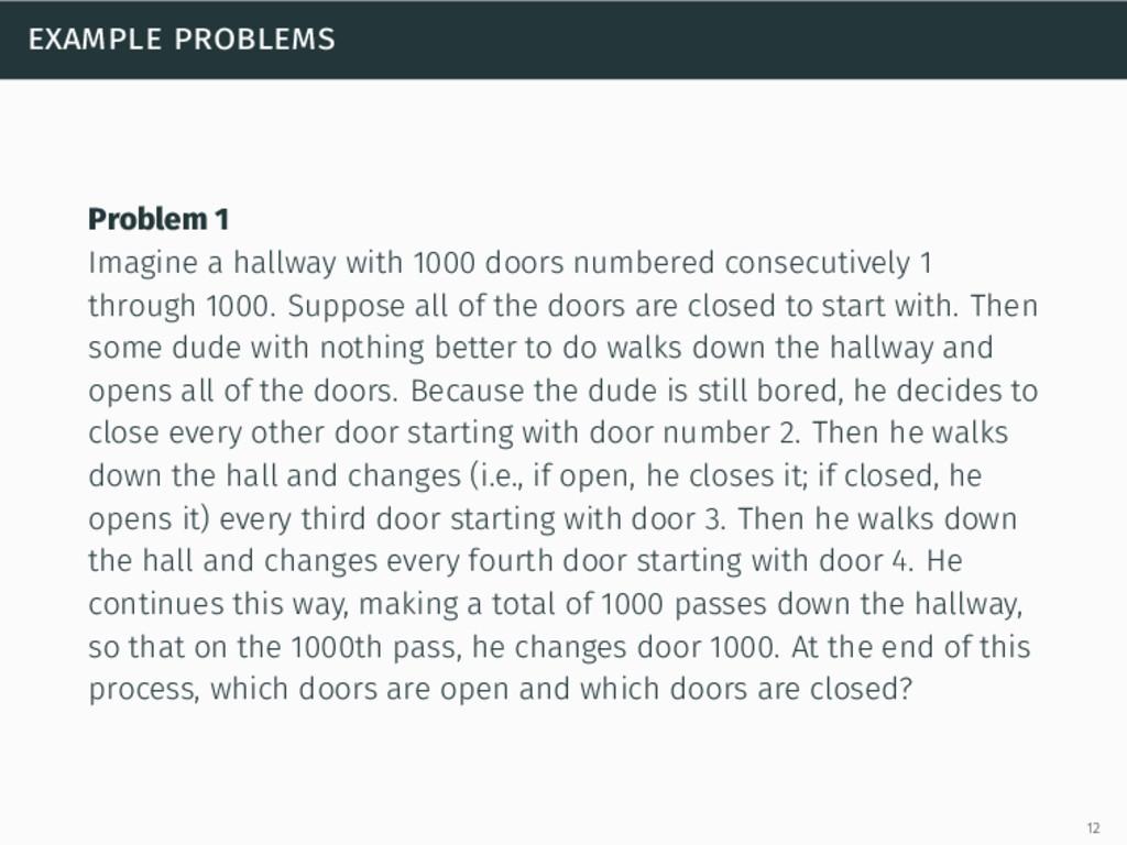 example problems Problem 1 Imagine a hallway wi...
