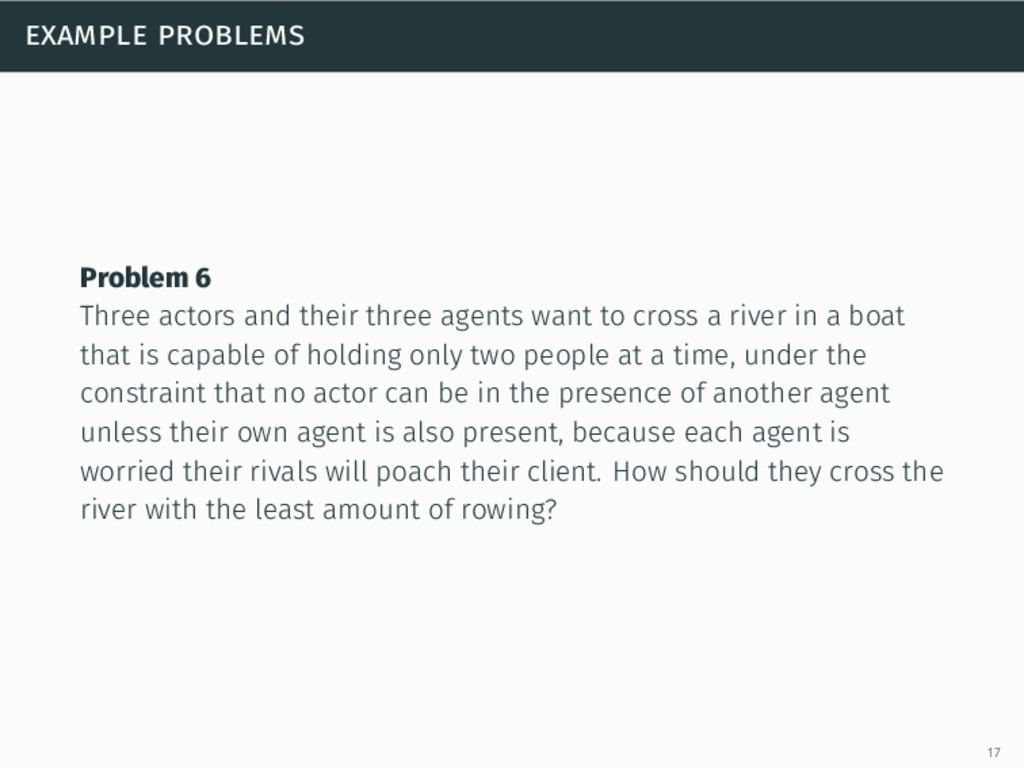 example problems Problem 6 Three actors and the...