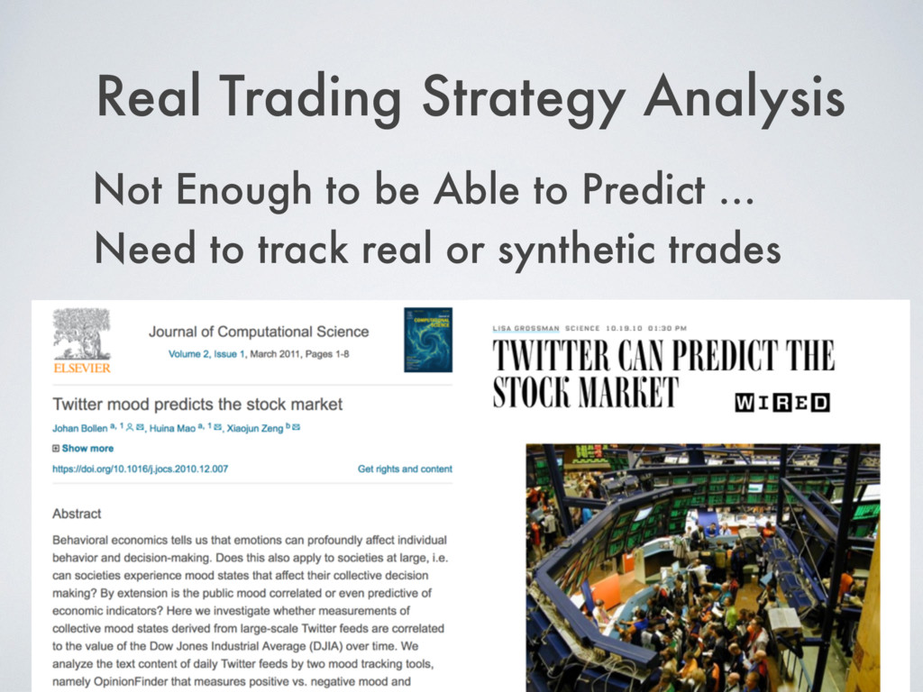 Real Trading Strategy Analysis Not Enough to be...