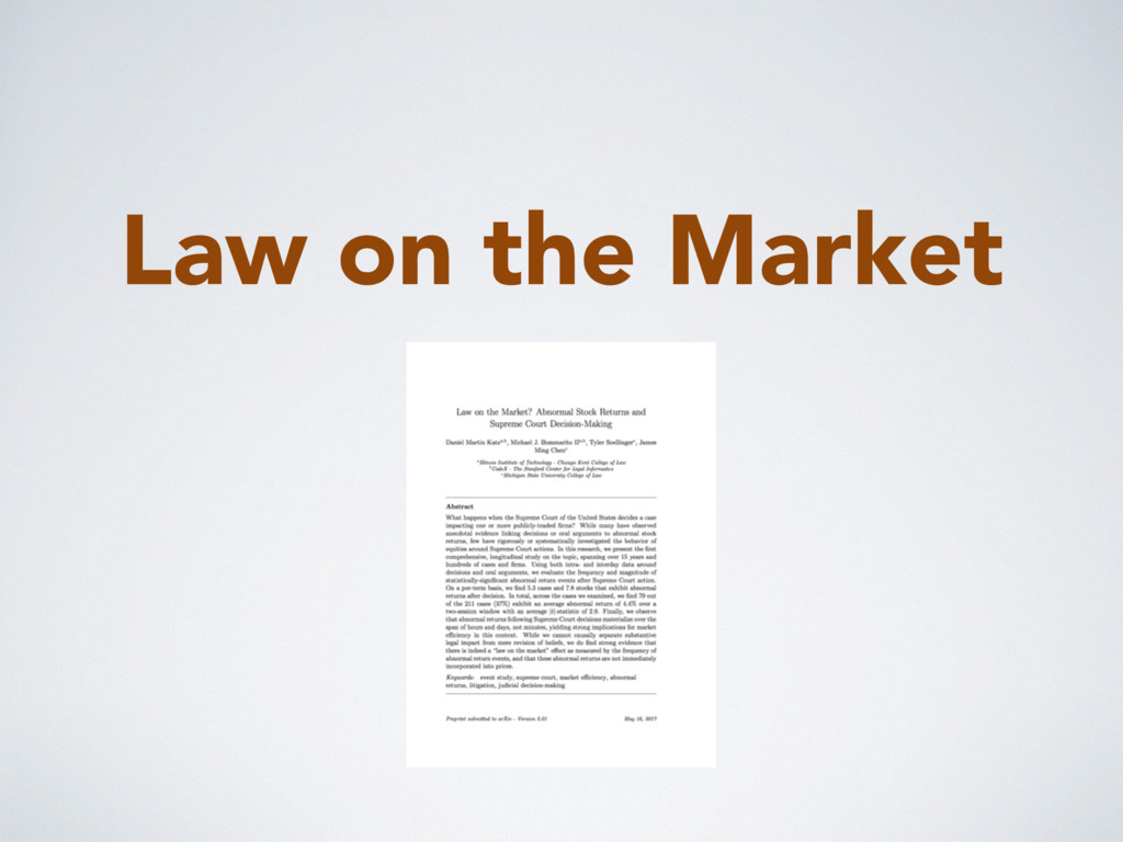 Law on the Market