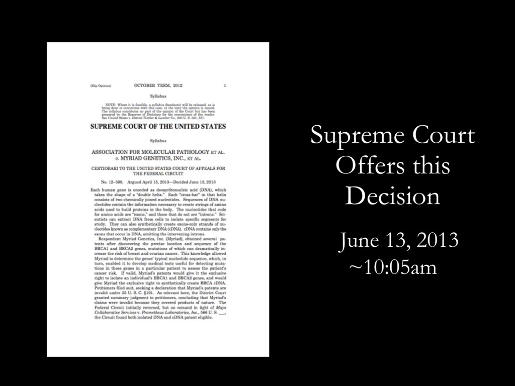 June 13, 2013 Supreme Court Offers this Decisio...