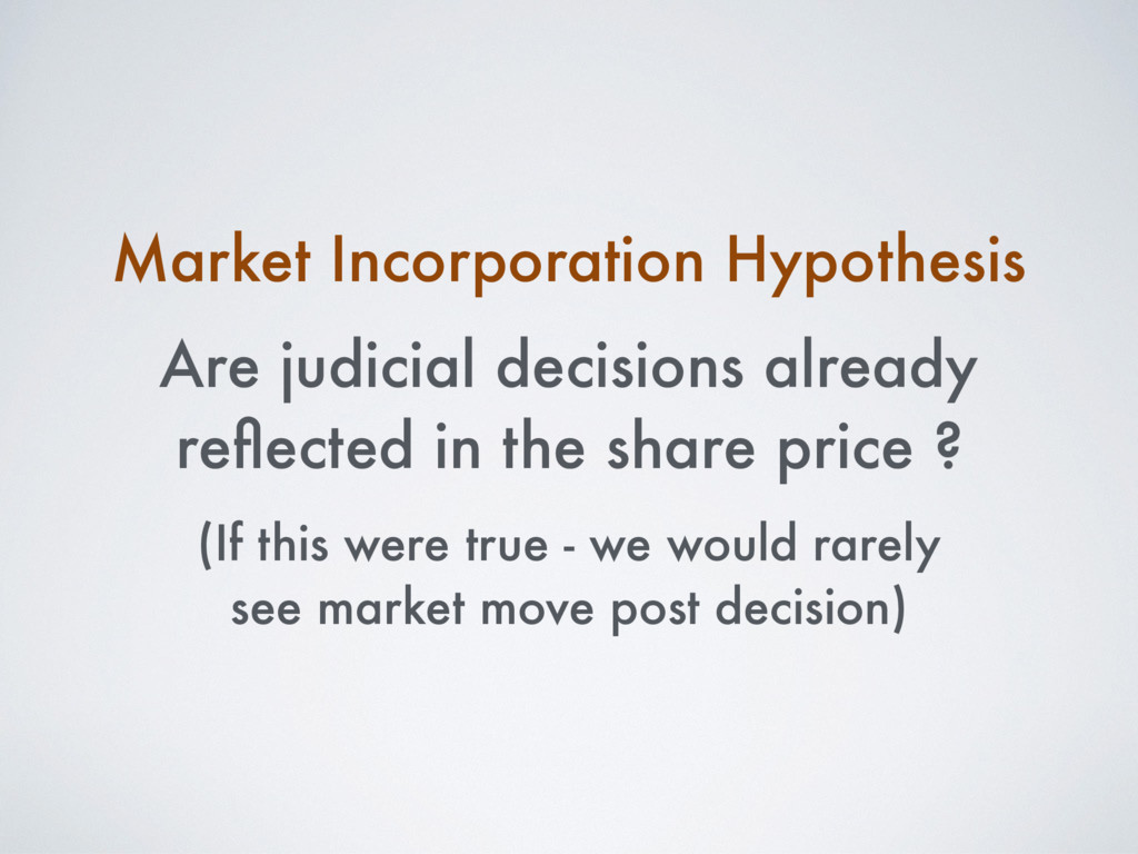 Market Incorporation Hypothesis Are judicial de...