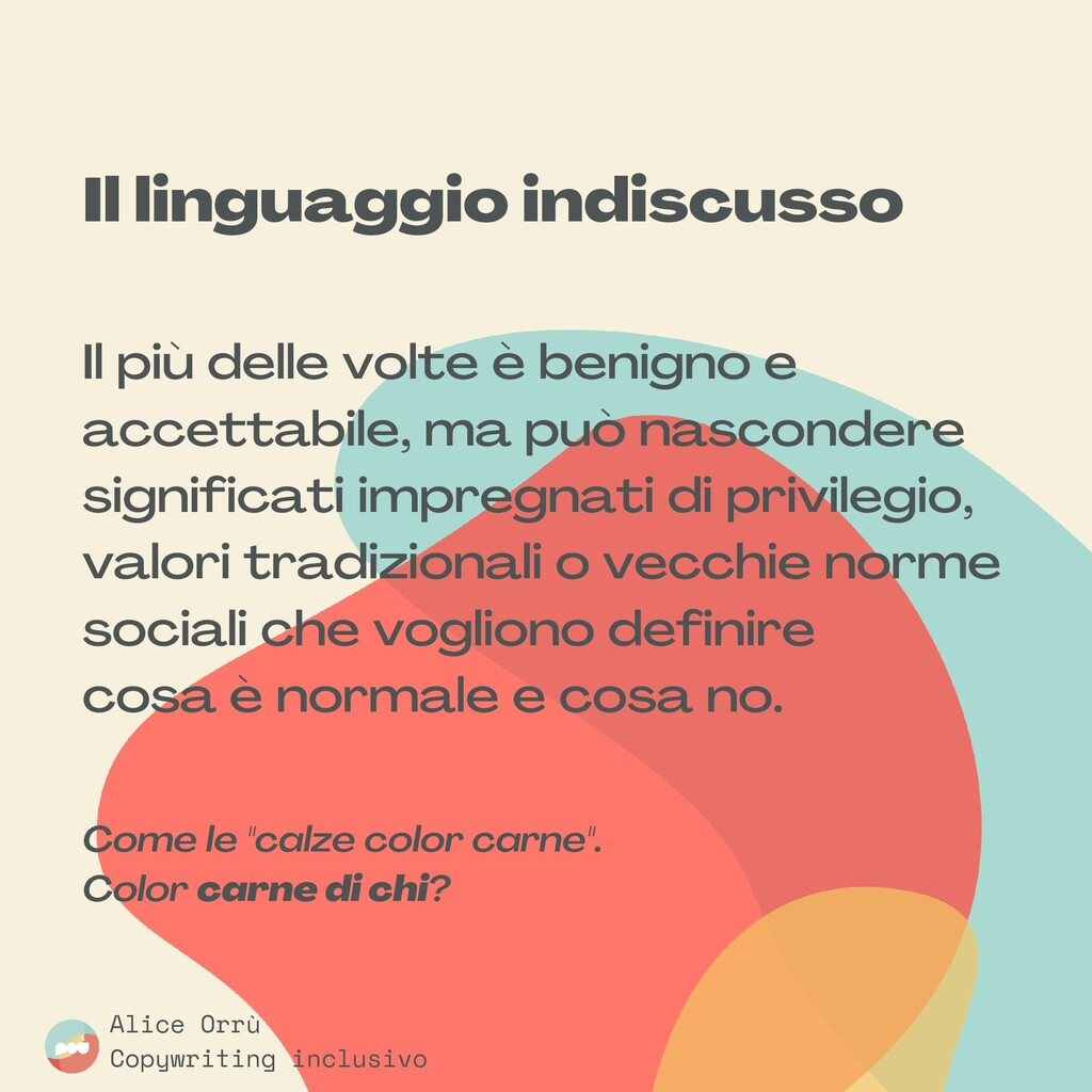 Il linguaggio indiscusso Il più delle volte è b...