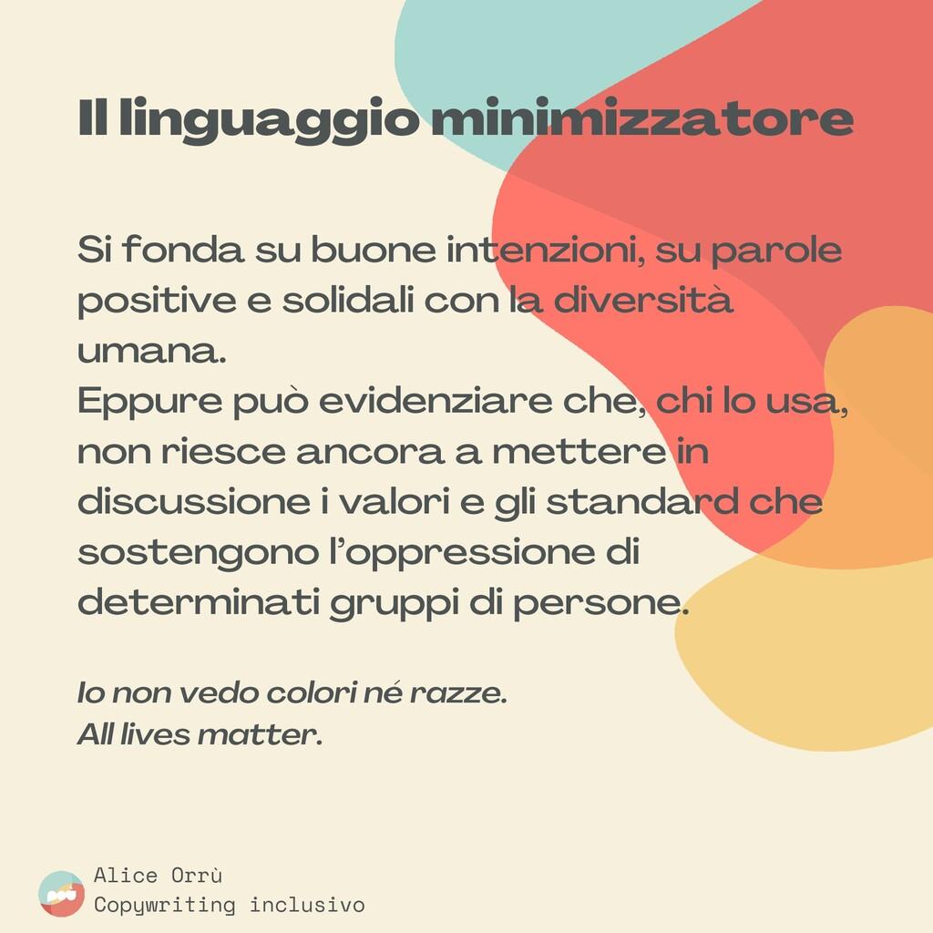 Il linguaggio minimizzatore Si fonda su buone i...