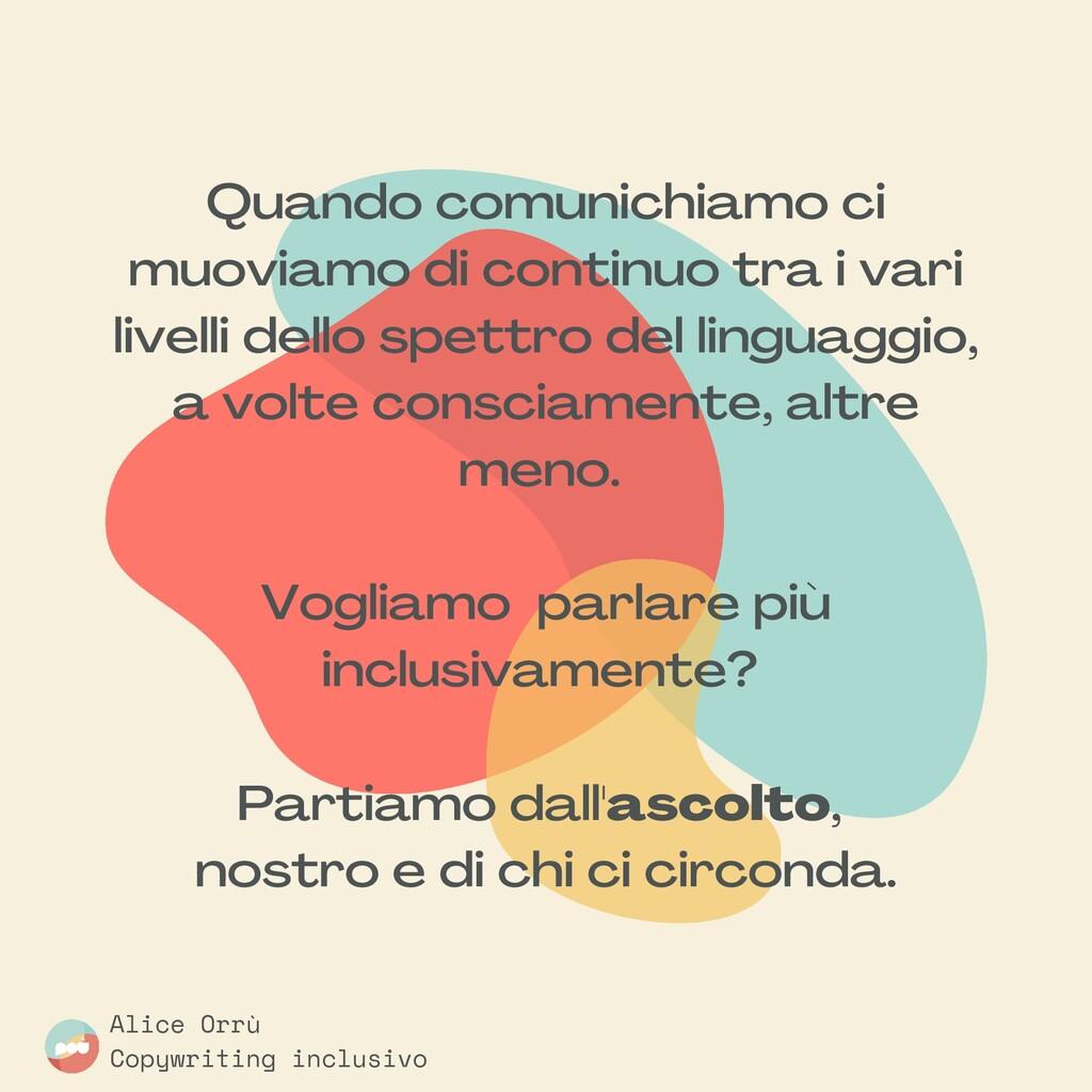 Alice Orrù Copywriting inclusivo Quando comunic...