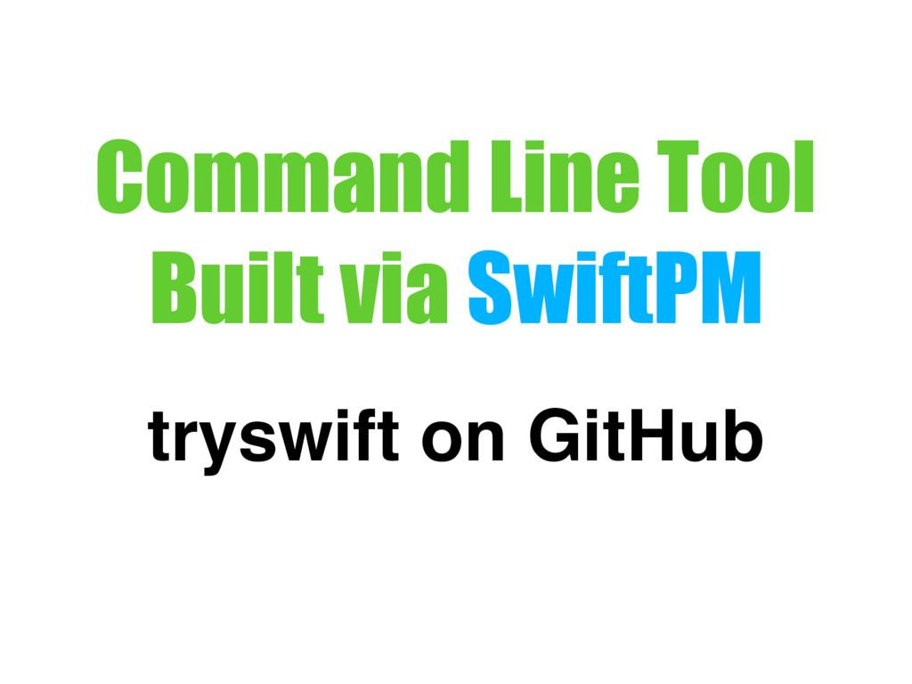 Command Line Tool Built via SwiftPM tryswift on...