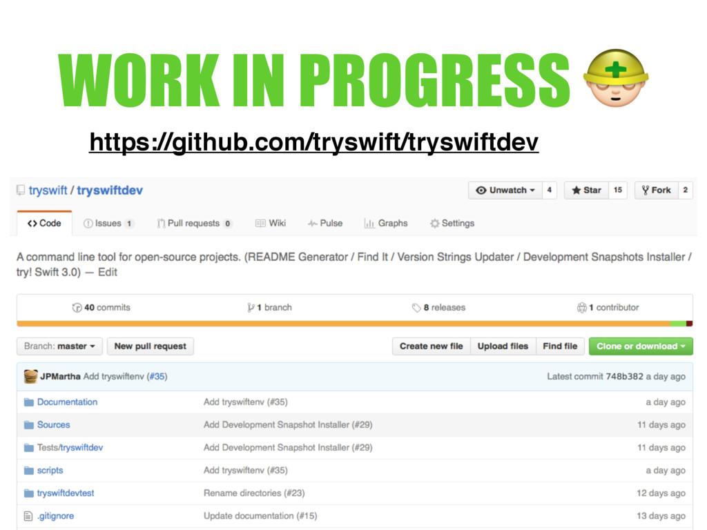 WORK IN PROGRESS $ https://github.com/tryswift/...