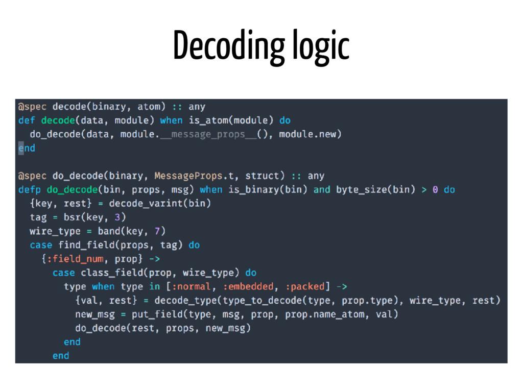 Decoding logic