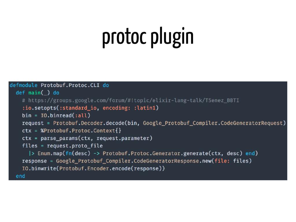protoc plugin