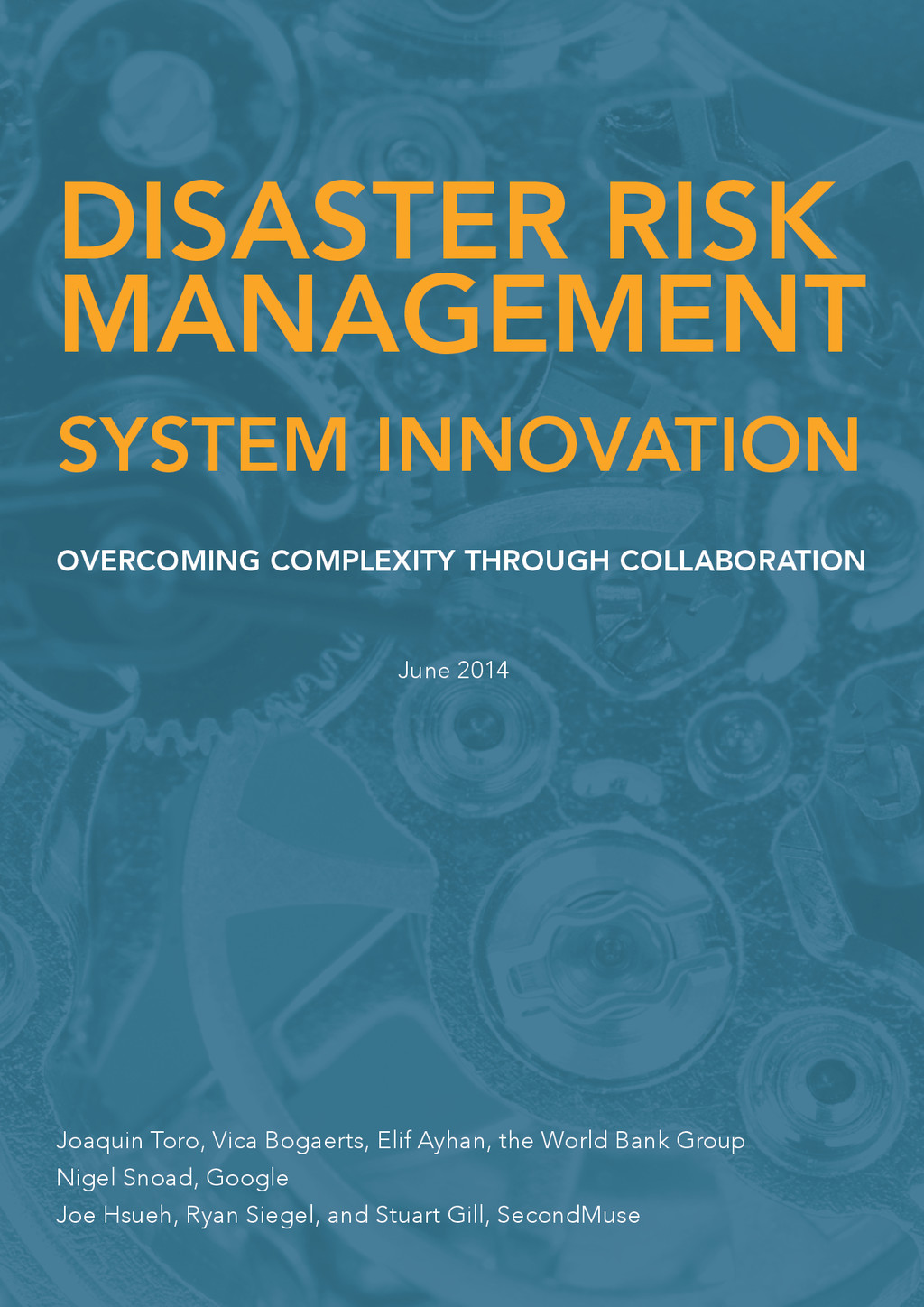 Systems Innovation Prospects Intro1 DISASTER RI...