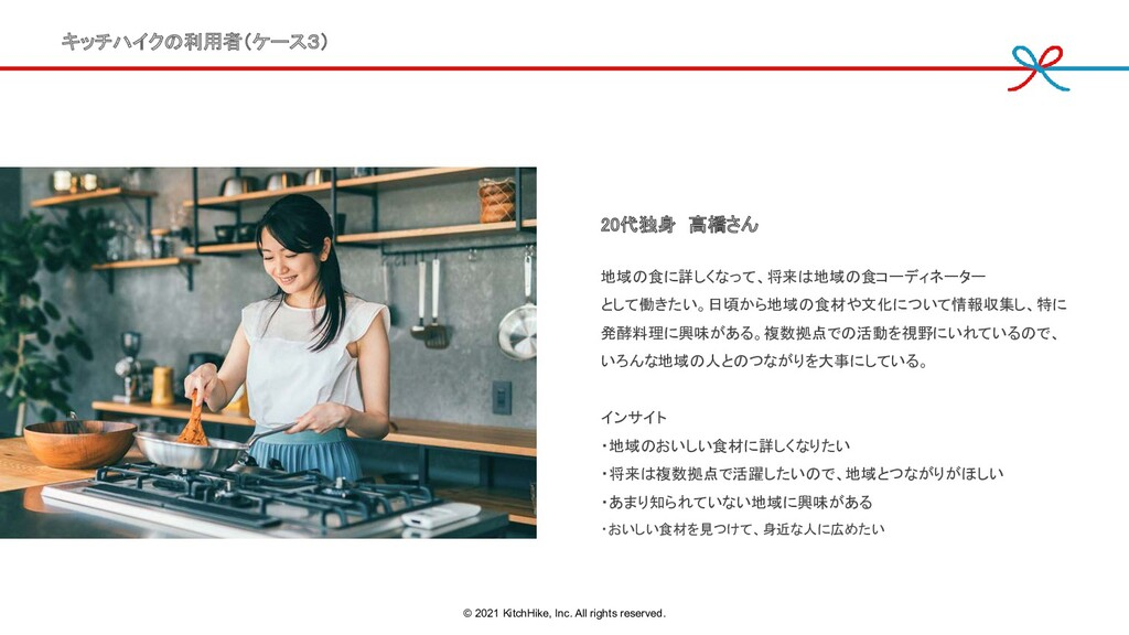 20代独身 高橋さん 地域の食に詳しくなって、将来は地域の食コーディネーター  として働き...