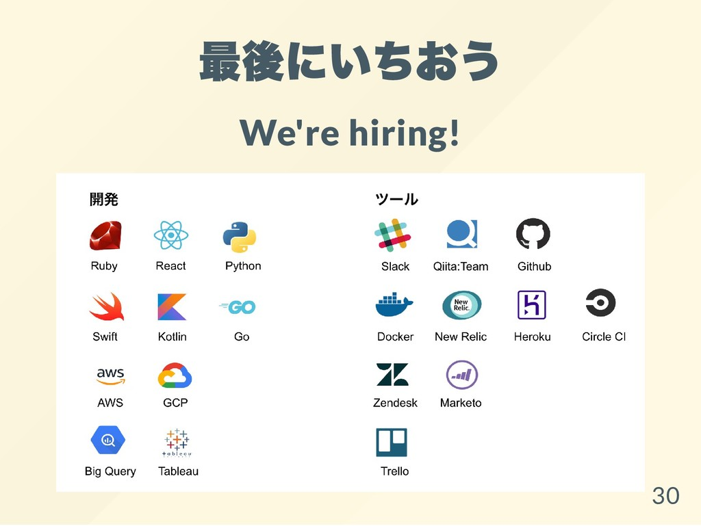 最後にいちおう We're hiring! 30
