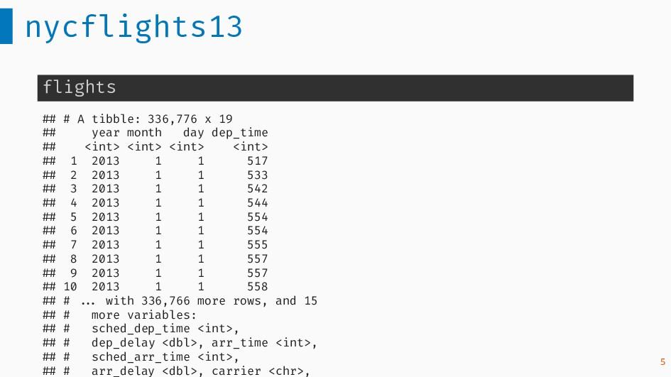 nycflights13 flights ## # A tibble: 336,776 x 1...