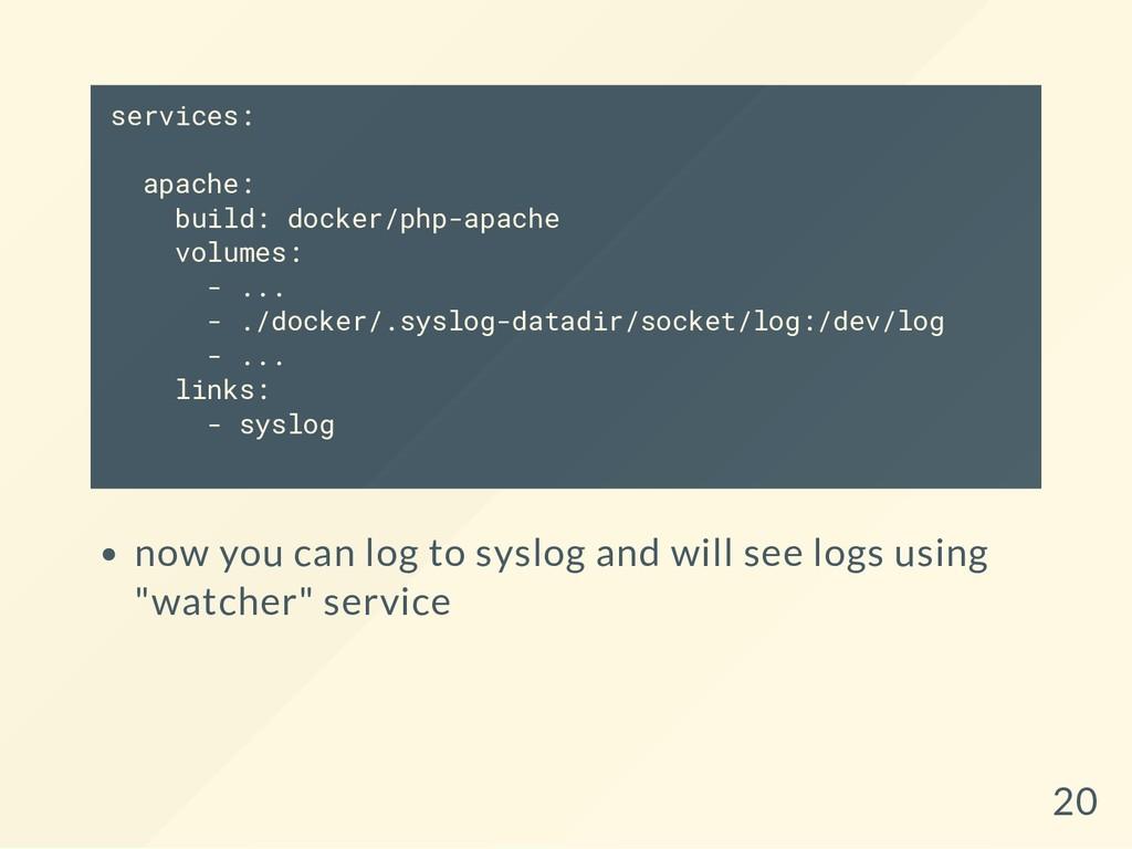 services: apache: build: docker/php-apache volu...