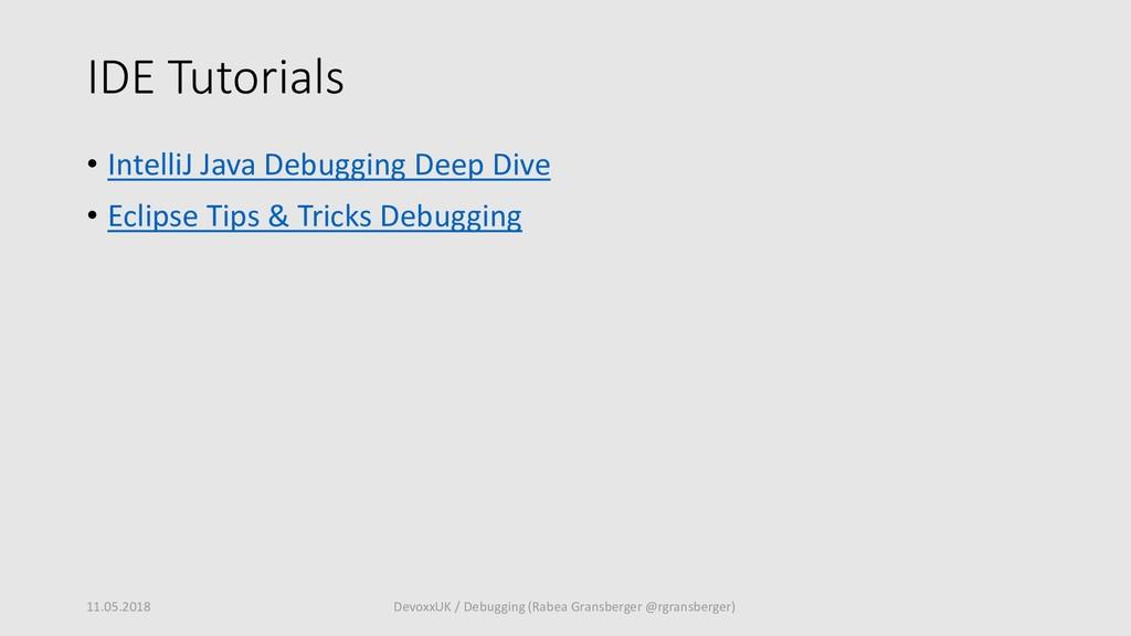 IDE Tutorials • IntelliJ Java Debugging Deep Di...