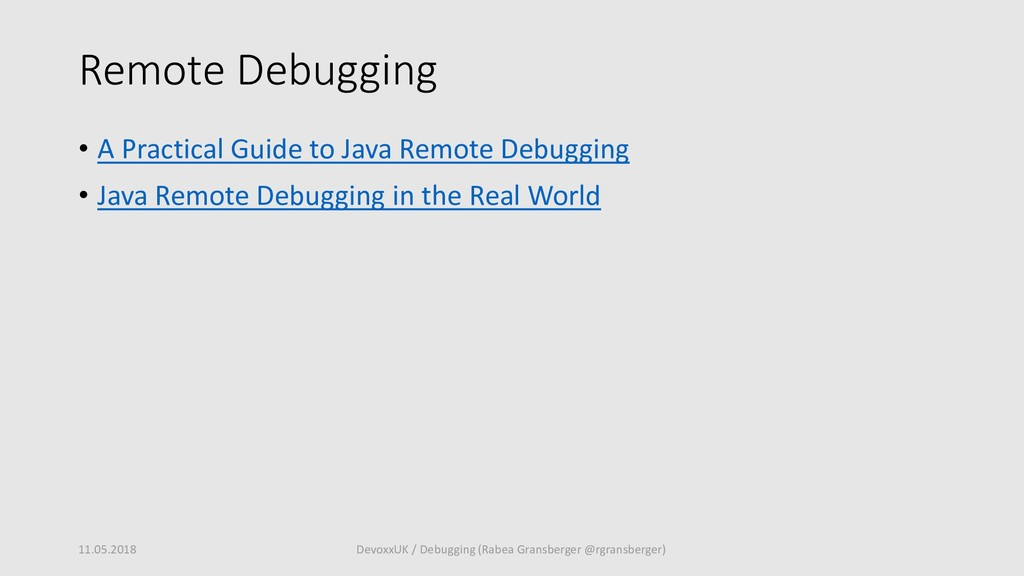 Remote Debugging • A Practical Guide to Java Re...