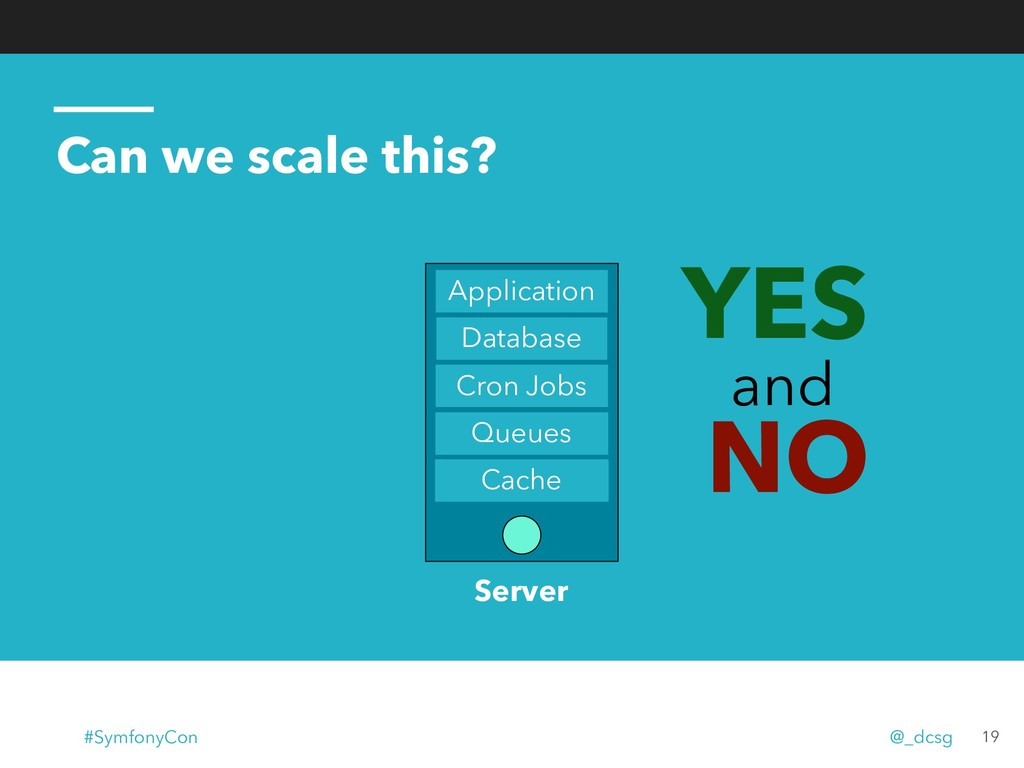 Can we scale this? 19 YES and NO Database Cron ...
