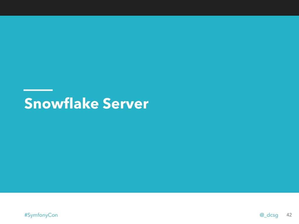 Snowflake Server 42 #SymfonyCon @_dcsg