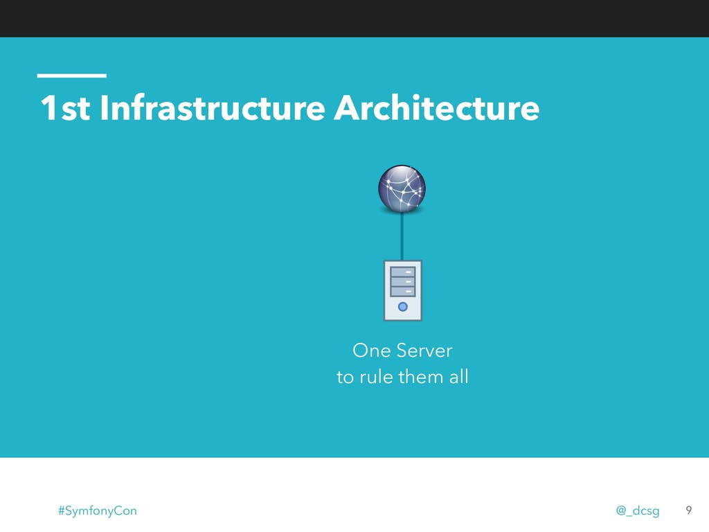 1st Infrastructure Architecture 9 One Server to...