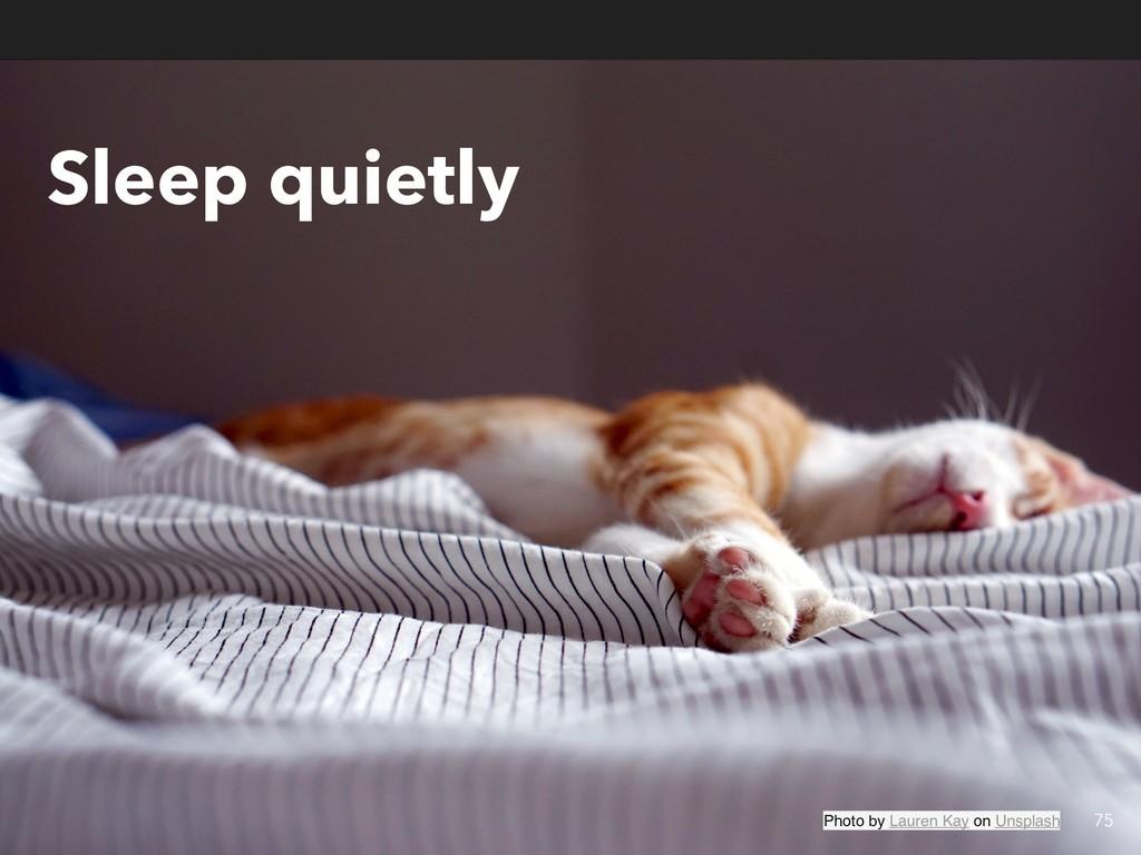 Sleep quietly 75 Photo by Lauren Kay on Unsplash