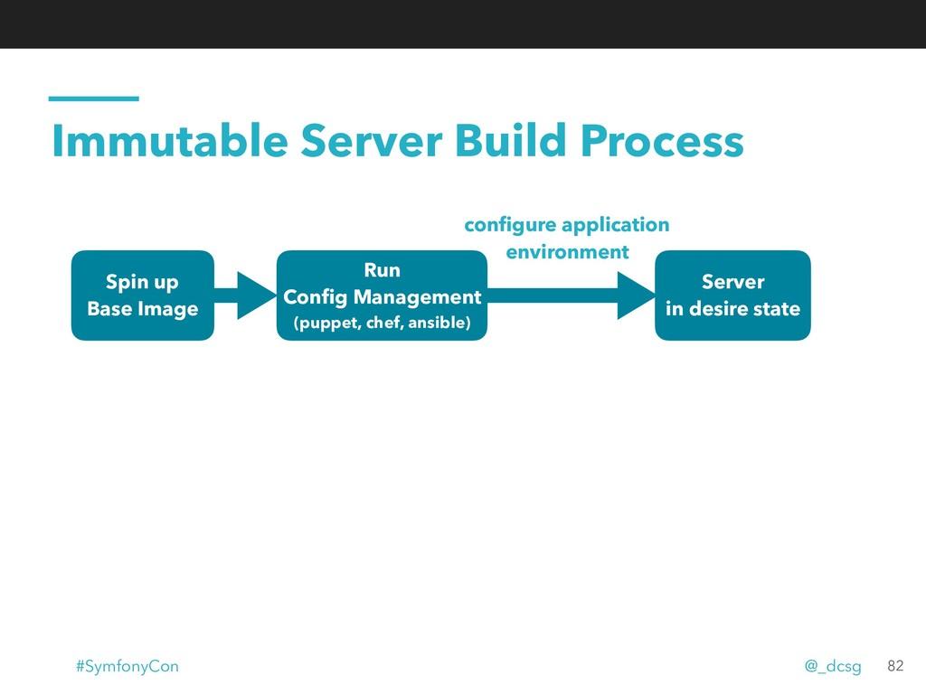 Immutable Server Build Process Server in desire...