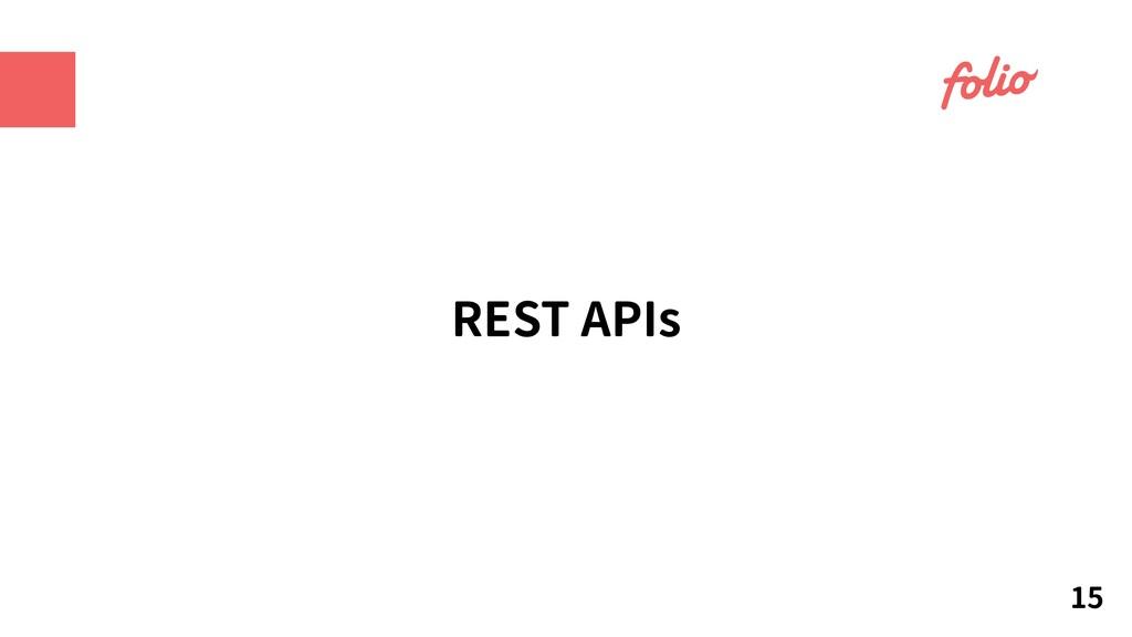 REST APIs 15