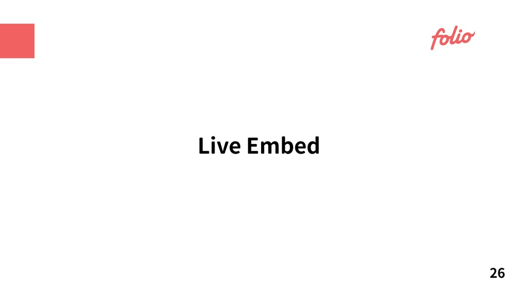 Live Embed 26