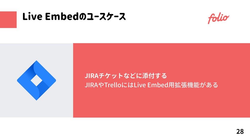 JIRAチケットなどに添付する JIRAやTrelloにはLive Embed用拡張機能がある...