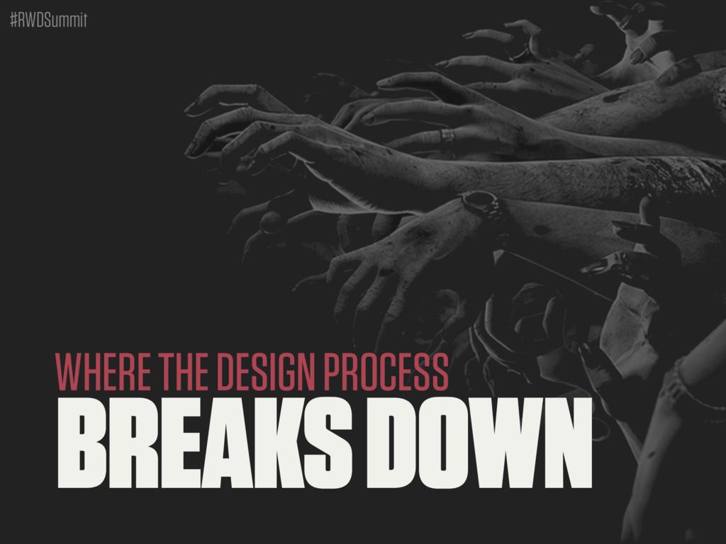 #RWDSummit BREAKS DOWN WHERE THE DESIGN PROCESS