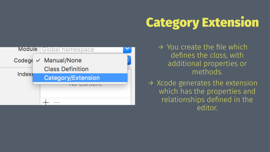 Category Extension → You create the file which d...