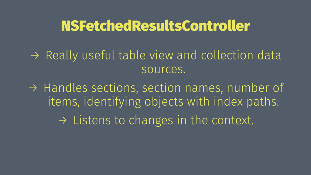 NSFetchedResultsController → Really useful tabl...