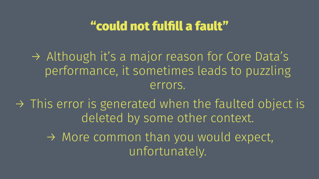 """could not fulfill a fault"" → Although it's a ma..."